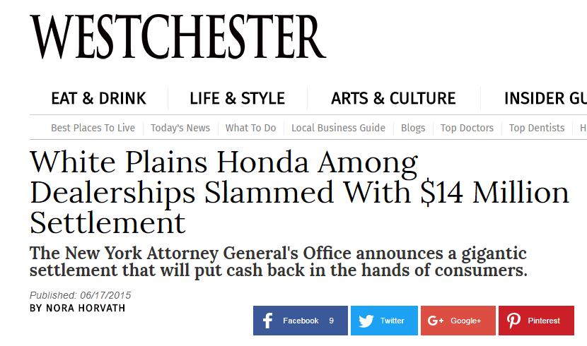 Deceptive dealer yelp for Honda service white plains