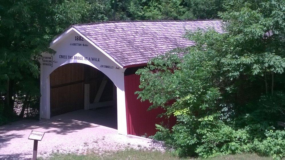 Narrows Covered Bridge: Narrows Rd, Bloomingdale, IN