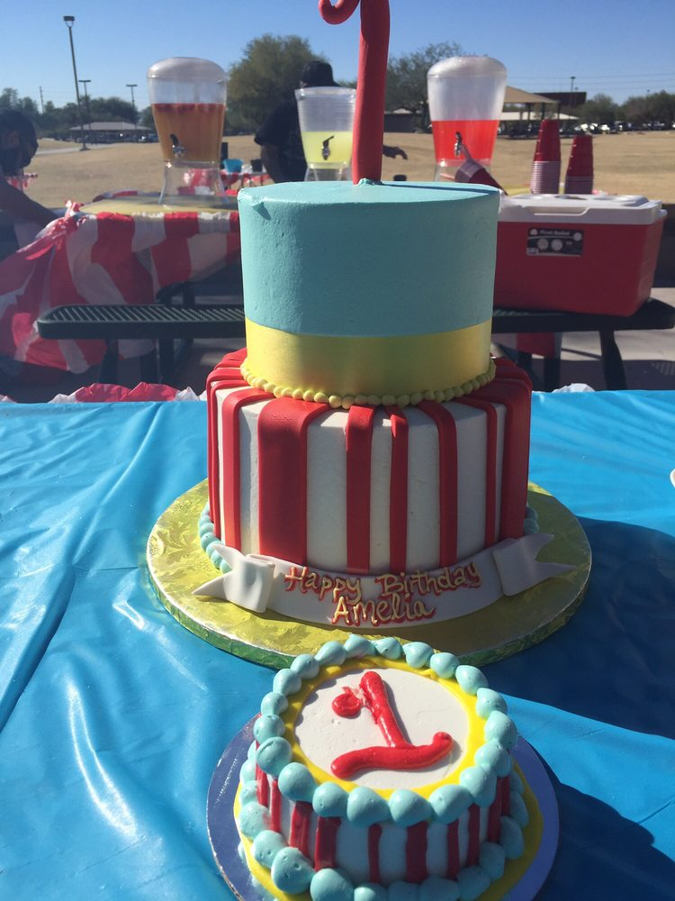 Carnival Themed Birthday Cake For My Daughters First Birthday Party