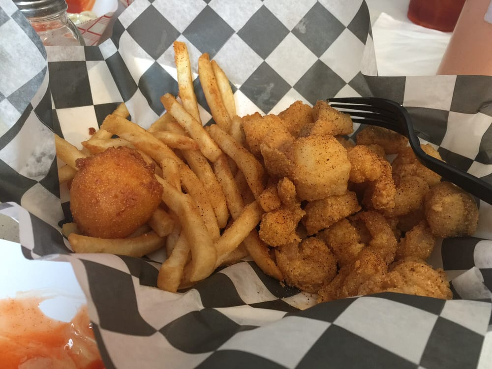 Catfish/shrimp basket and conch fritters..... - Yelp