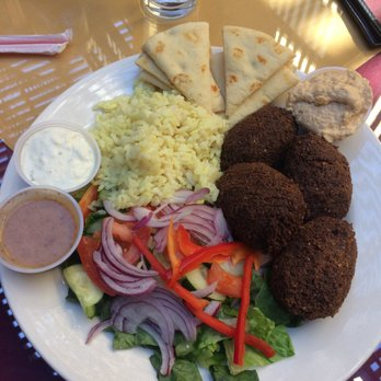 Photo Of Cafe Ambrosia Long Beach Ca United States Falafel Plate With