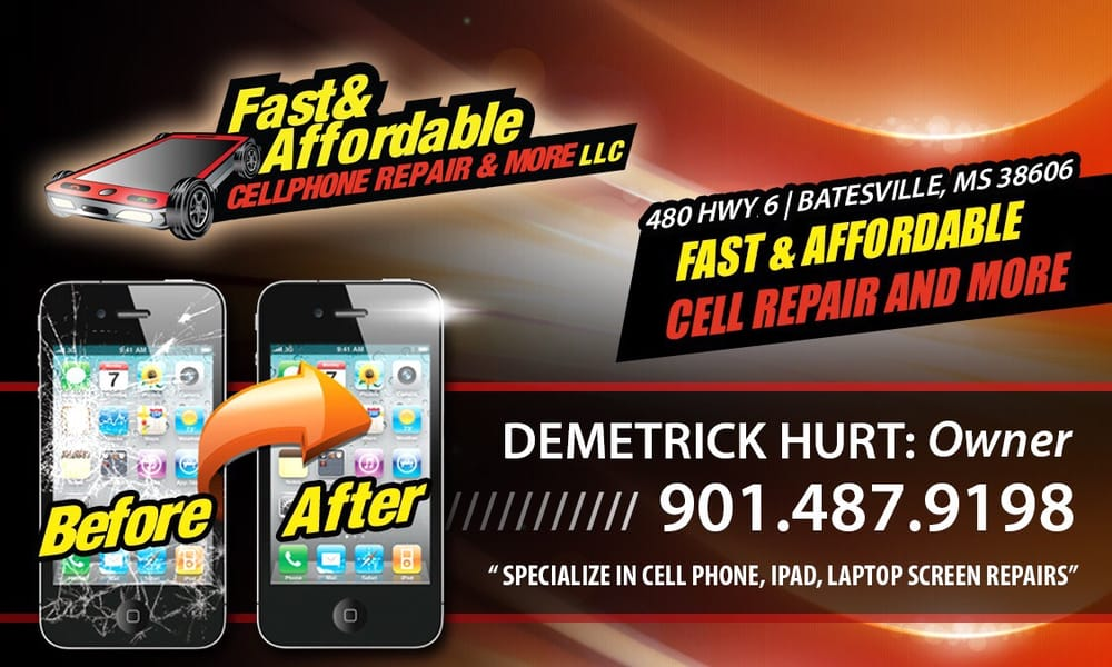 Fast & Affordable Cellphone Repair & More: 480 Hwy 6 E, Batesville, MS