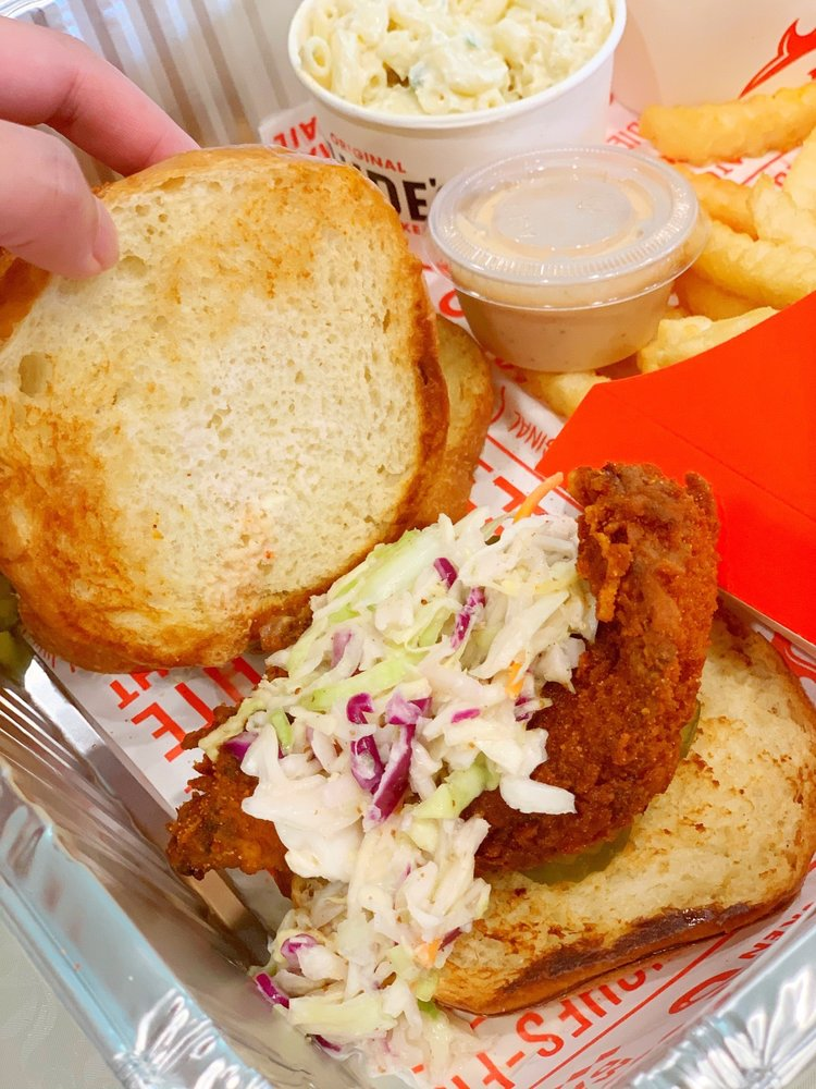 Food from Clyde's Hot Chicken