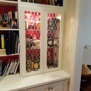 Floating White Vanity Photo Of Edgewood Custom Cabinetry   Clayton, NC,  United States. Etched Glass Cabinet