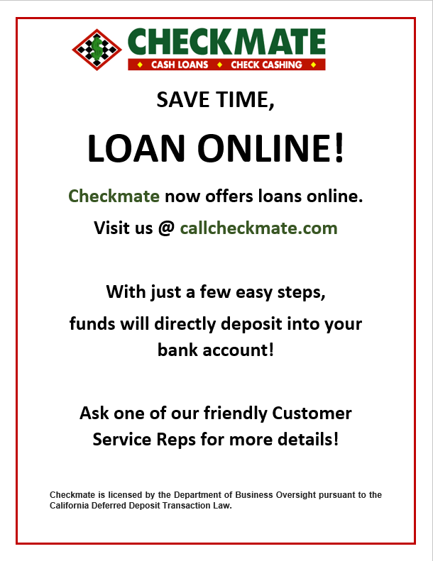 Checkmate Check Cashing & Payday Loans