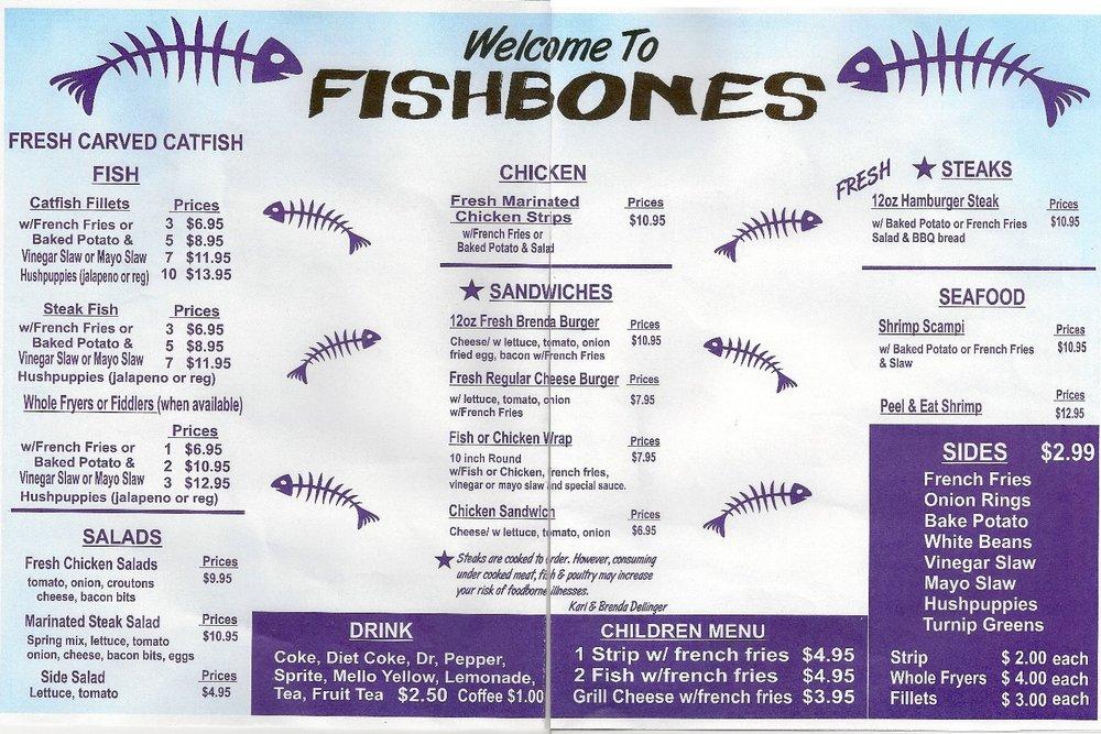 Fishbones: 3830 Birdsong Rd, Camden, TN