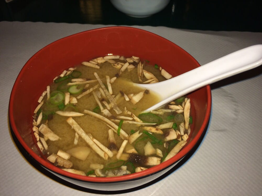 Delicious miso soup with mushrooms yelp - Shogun japanese cuisine ...