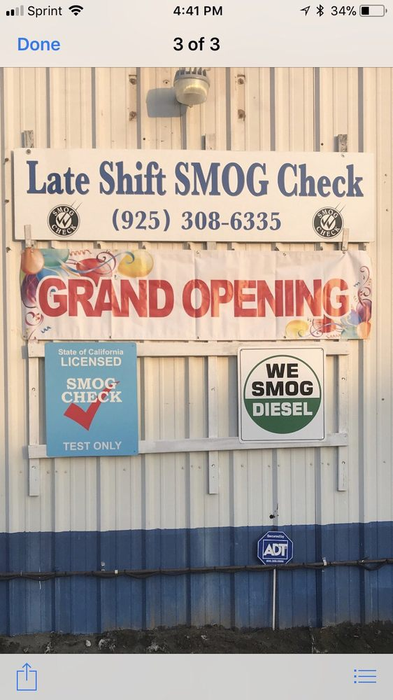 Late Shift Smog Check: 3000 Taylor Ln, Byron, CA
