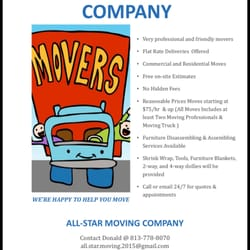 photo of all star moving company tampa fl united states