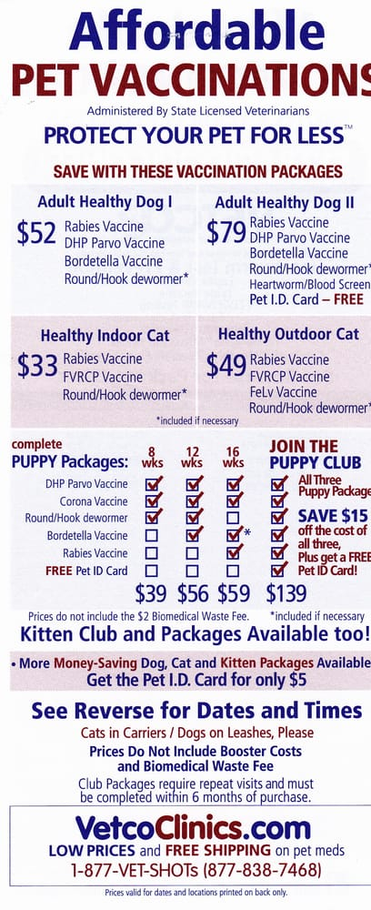 Low Cost Pet Vaccinations San Diego