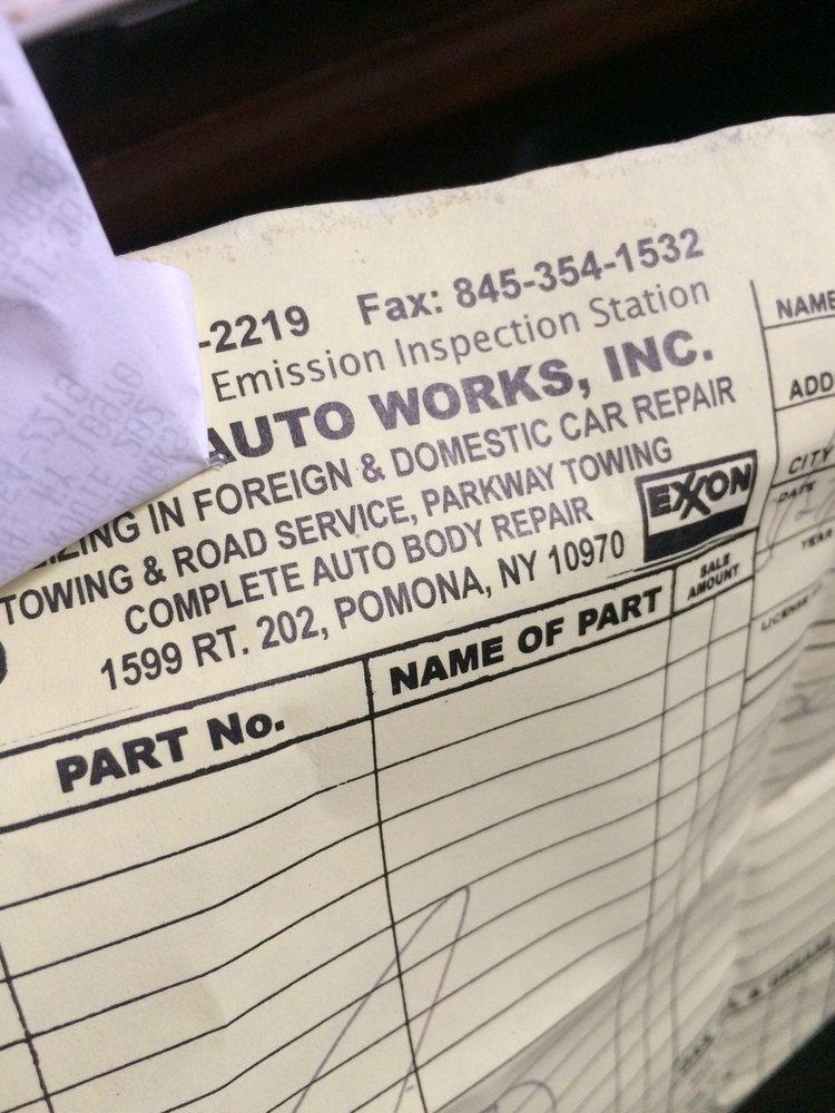 Pomona Auto Works: 1599 Rt 202, Pomona, NY