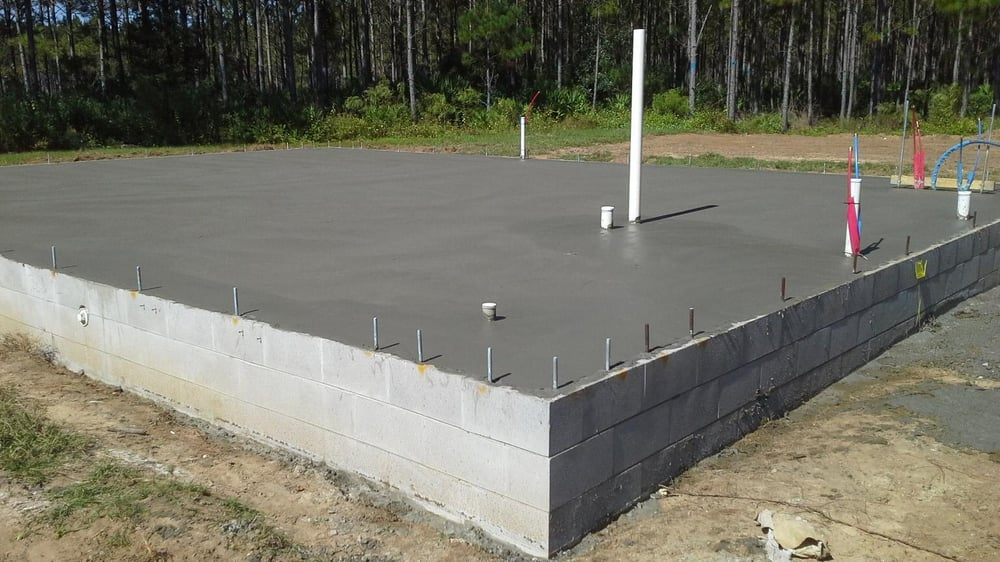 The Stem Wall Foundation Set On Helical Piles Is Complete