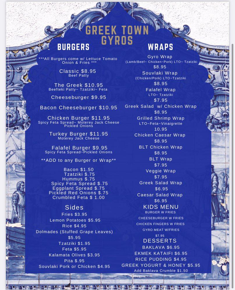 Greek Town Gyros: 65 Park Ave, Rutherford, NJ