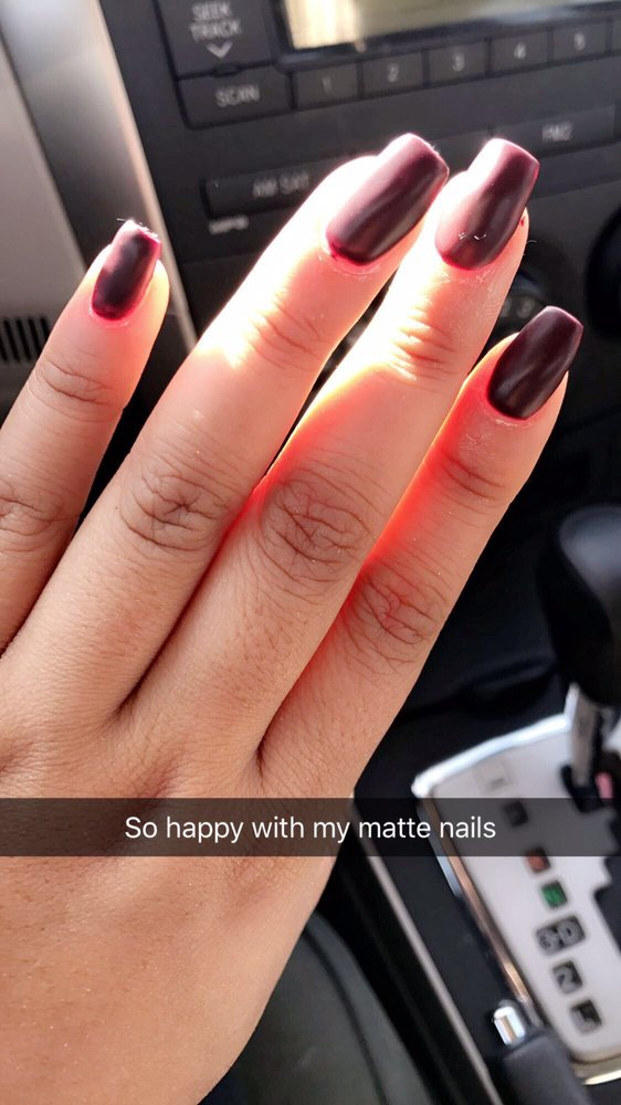 Nails down and fresh for valentines 2017. Coffin cut nails with a ...