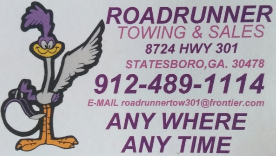 Roadrunner Towing and Sales: 8724 US Highway 301 S, Statesboro, GA