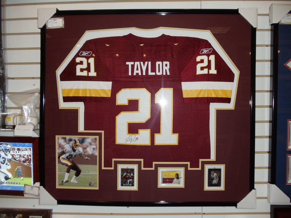 1fb939b07 Framed Jersey Cheap Vintage White Red Mens Autograph Rugby Jersey 21 Sean  Taylor ...