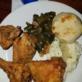 ... Buttermilk Fried Chicken, Smoked Greens, Garlic Mashed Potato, Gravy n