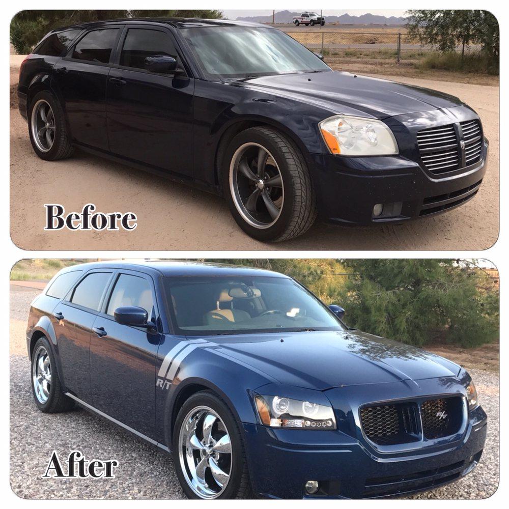 47 photos for Matador Rod u0026 Customs & Melanieu0027s Dodge Magnum received a full color change custom grille ...