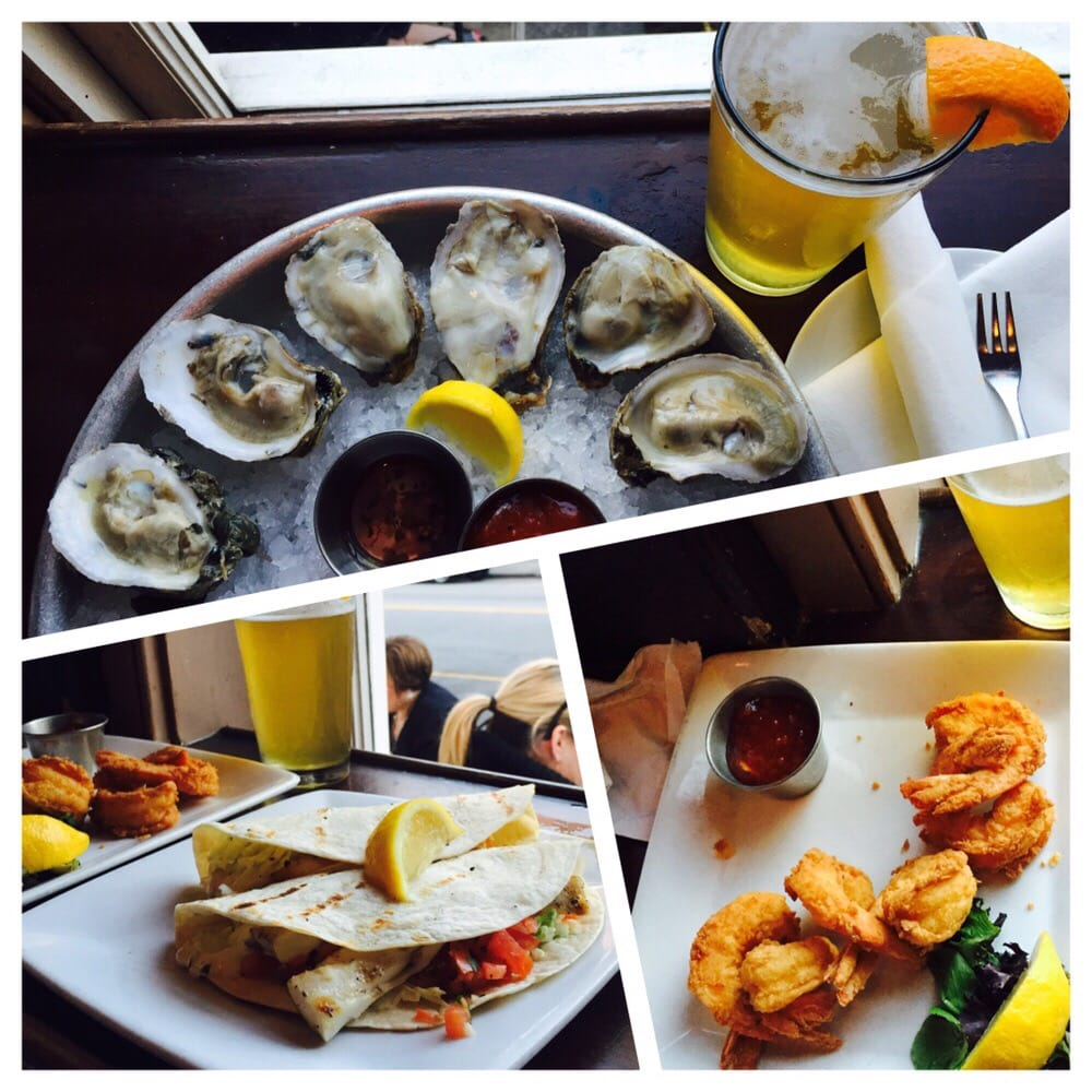 Happy Hour Oysters For 9 95 Mahi Fish Tacos And Fried