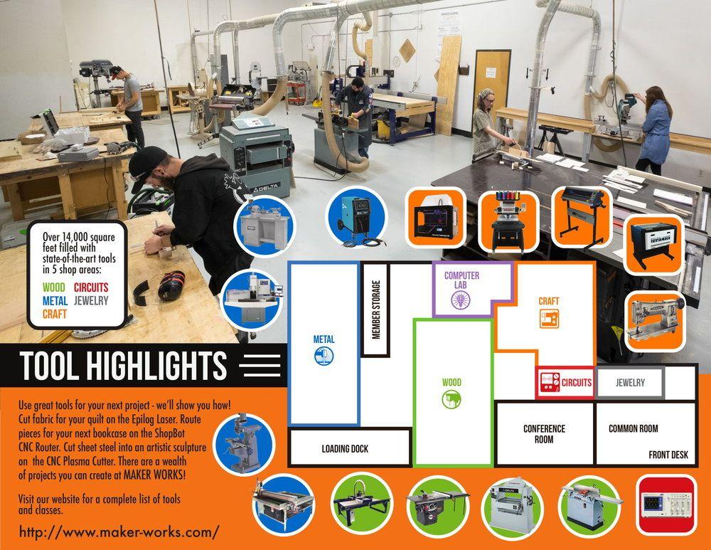Maker Works: 3765 Plaza Dr, Ann Arbor, MI
