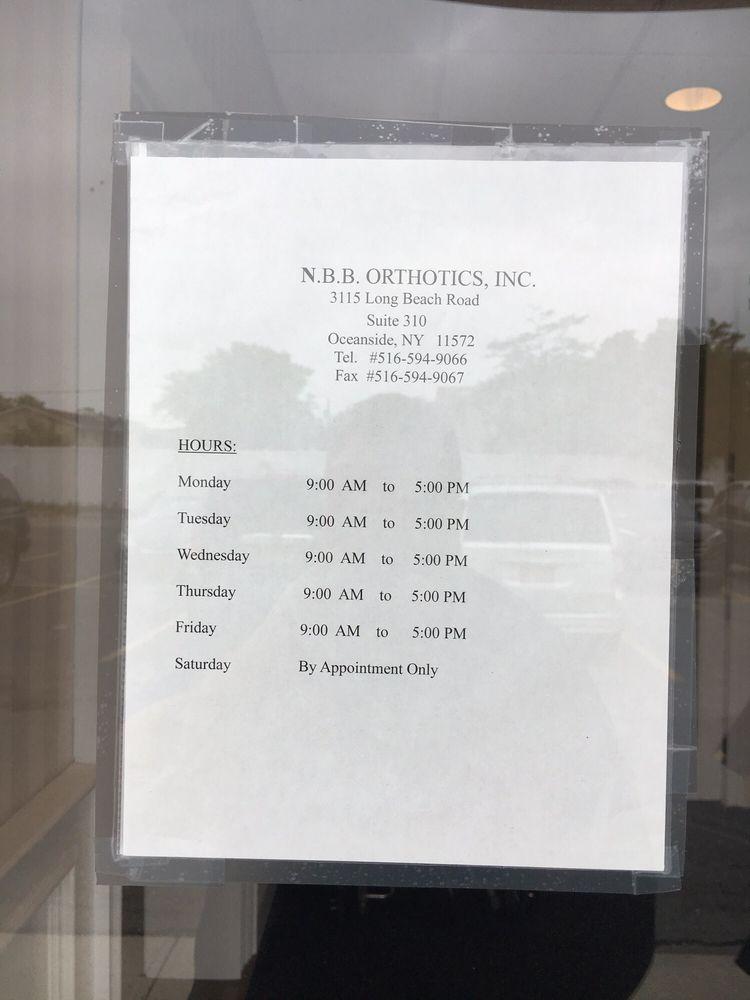 Nbb Orthotics Orthotics 3115 Long Beach Rd Oceanside Ny