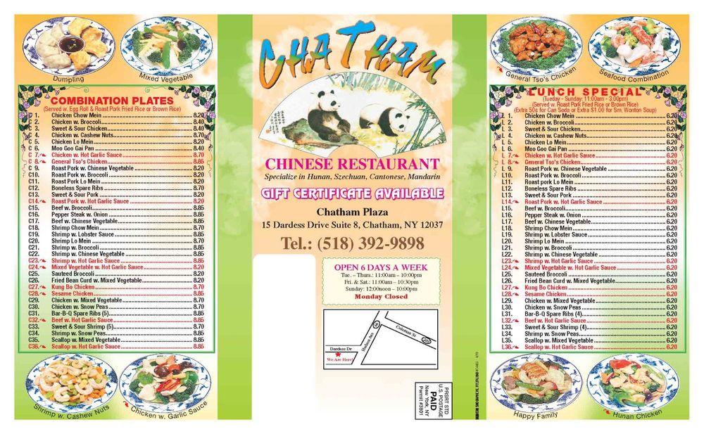 Chatham Chinese Restaurant: 15 Dardess Dr, Chatham, NY