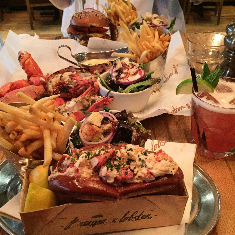 Burger, Lobster, Lobster Roll $20 each with a side of salad and fries! - Yelp