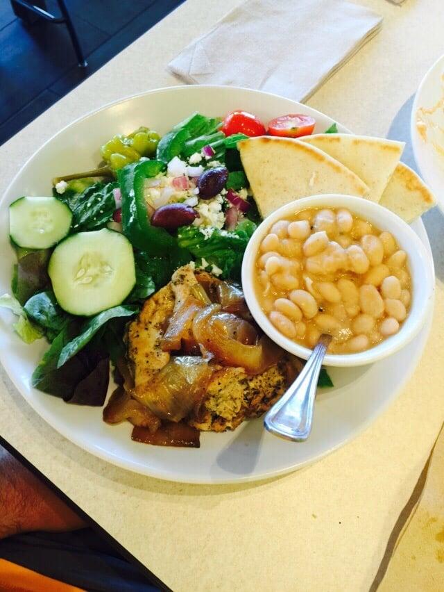 Zo S Kitchen Mediterranean Chicken mediterranean chicken - 4/5 stars.. highlight was the beans