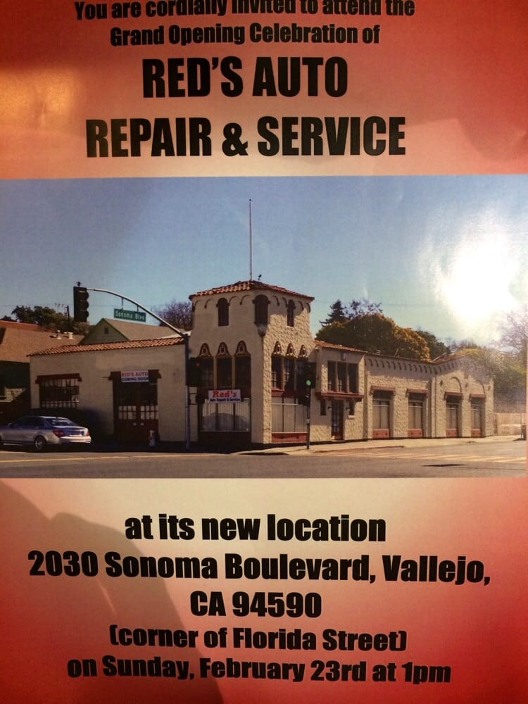 Red's Auto Repair & Service: 2030 Sonoma Blvd, Vallejo, CA