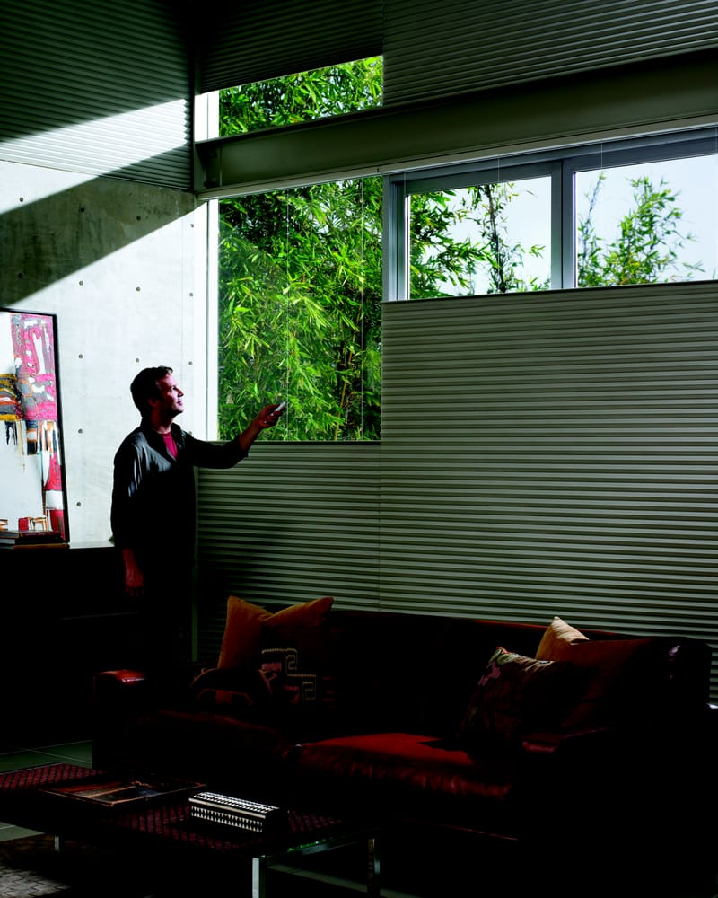 Motorized Honeycomb Shades By Hunter Douglas We Carry Them Give Us A Call Yelp