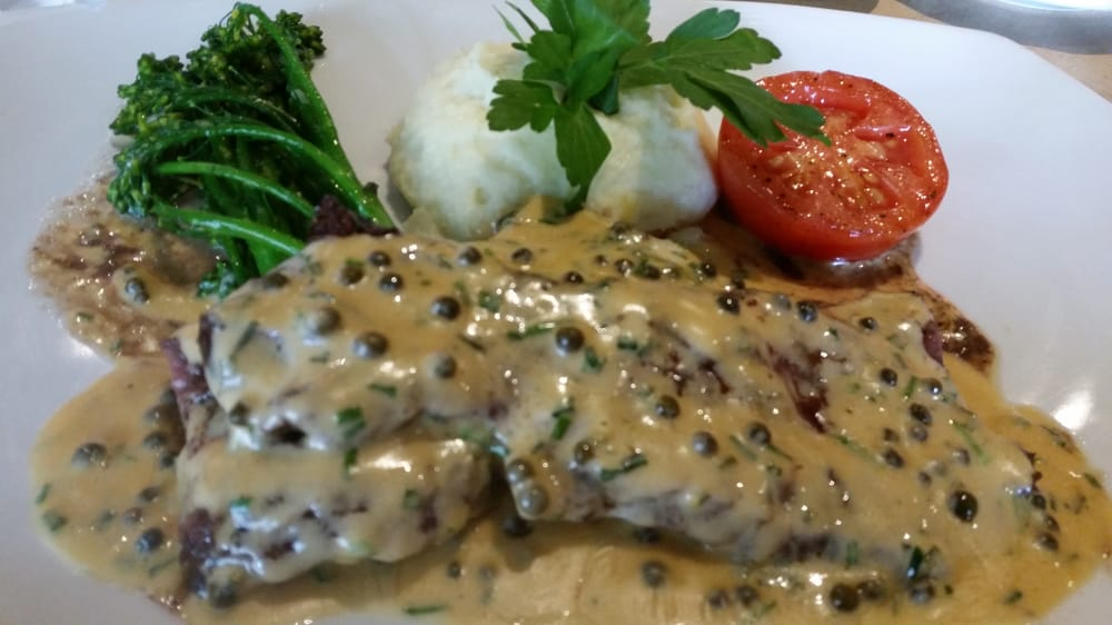 Skirt steak with green peppercorn sauce yelp for Argentinean cuisine