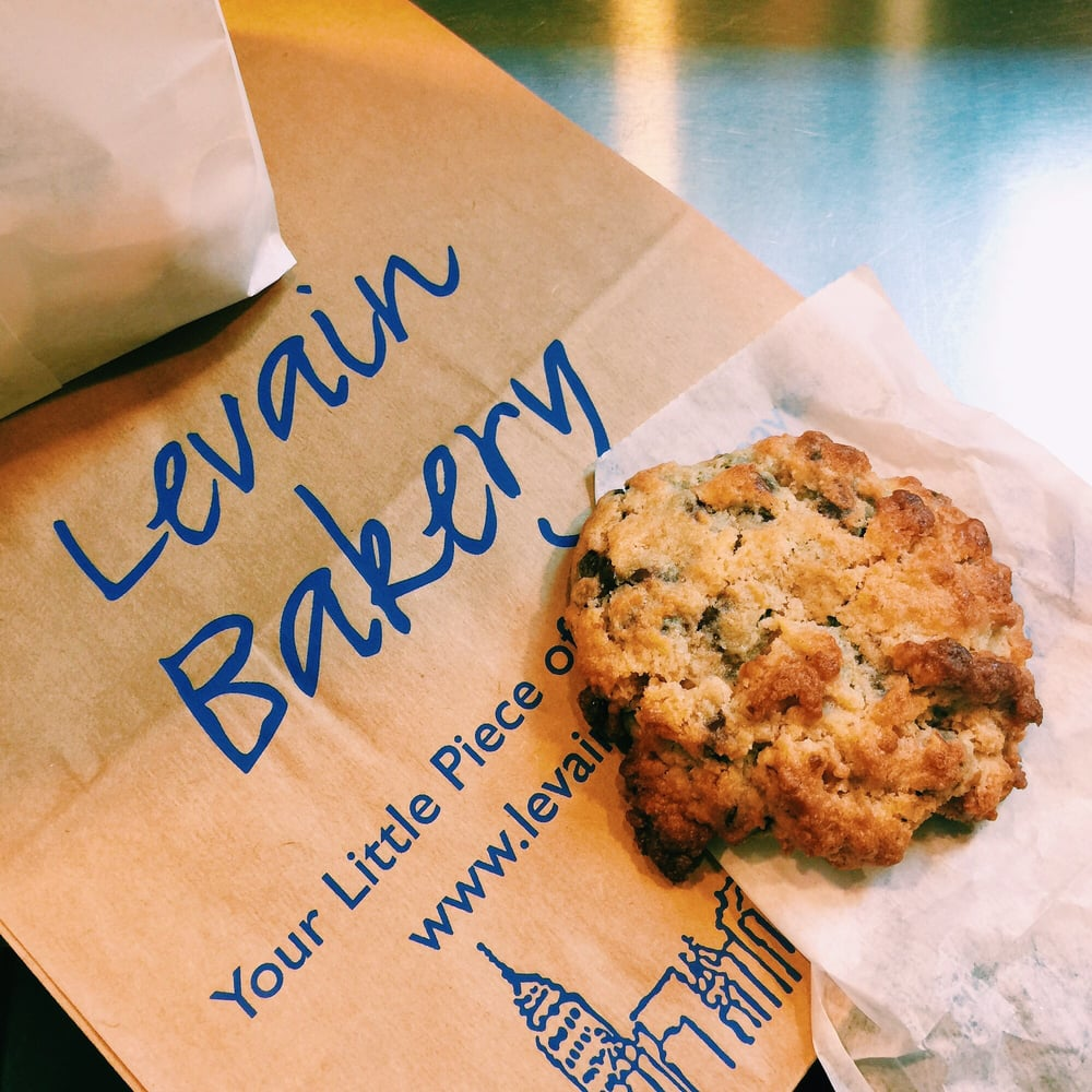 Photo of Levain Bakery - New York, NY, United States. The best cookie I've ever had: the signature chocolate chip walnut cookie from Levain ($4). You need to try this at least once in your life.