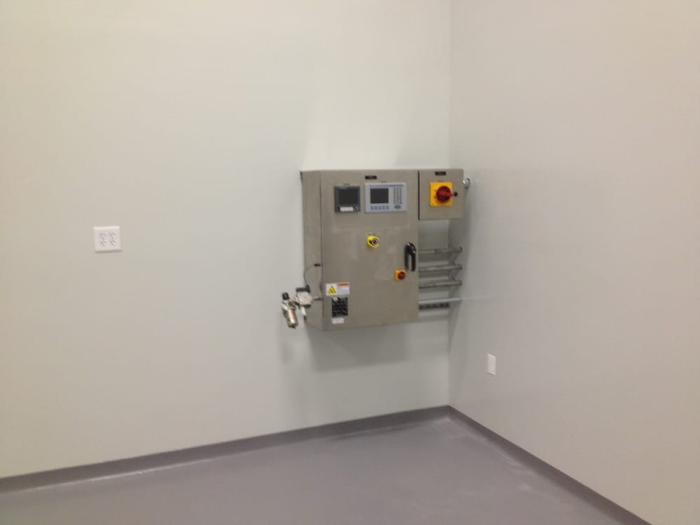 Control panel in clean room no conduits on walls - Yelp