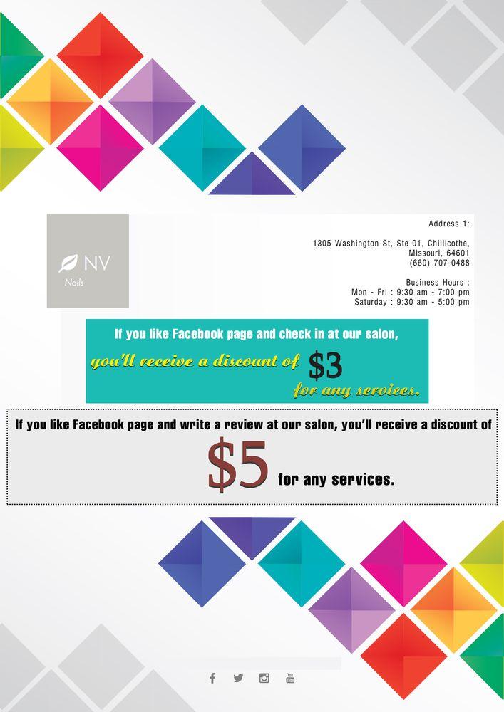 NV Nails & Spa: 1303 N Washington St, Chillicothe, MO