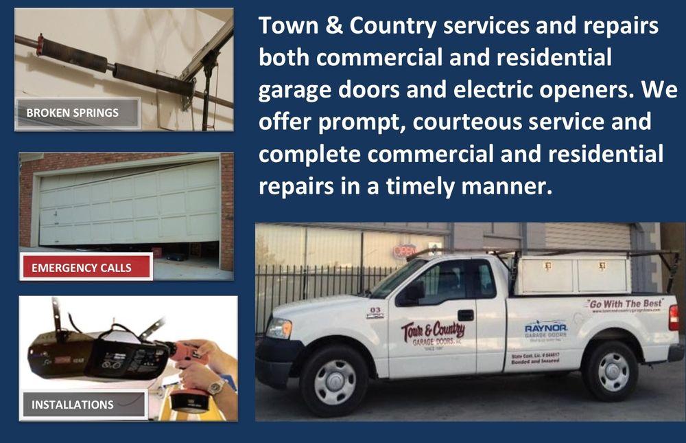 Town Amp Country Garage Door Repair Garage Door Services