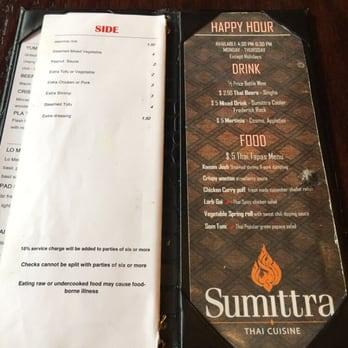 Sumittra Restaurant Downtown Frederick