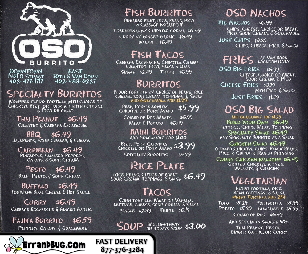 Food from Oso Burrito