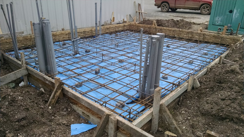Concrete Slab For Commercial Generator Time Warner Double