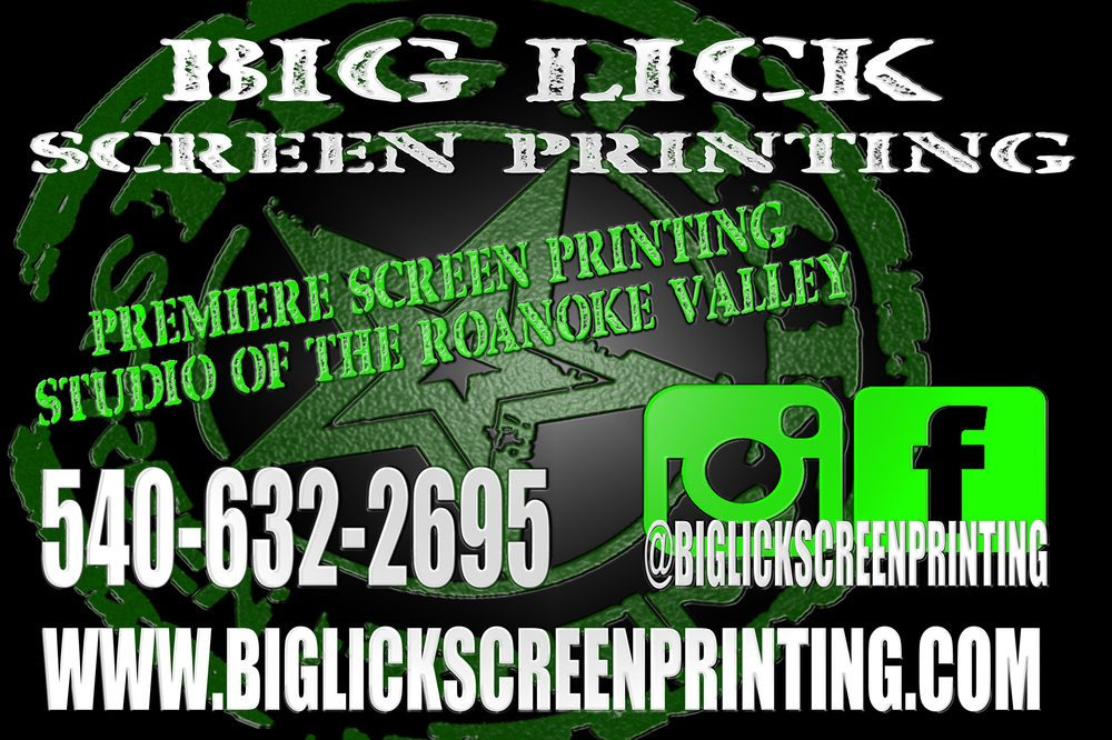 Big Lick Screen Printing: 802 Kerns Av, Roanoke, VA