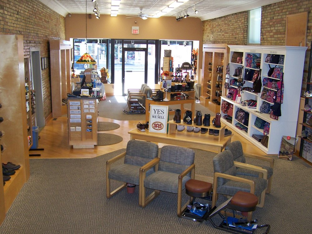Cobbler Shop Shoes and Pedorthic Center: 115 E Superior St, Alma, MI