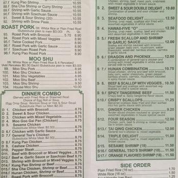 dinner asian menu menu garden