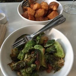 ... Australia. Brussels sprouts with bacon, and duck fat roasted potatoes