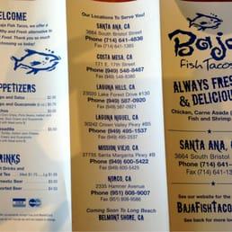 Photos for baja fish tacos menu yelp for Baja fish tacos menu