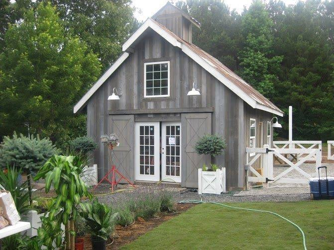 18x20 Gable Barn With Distressed Cedar Siding Amp Rustic