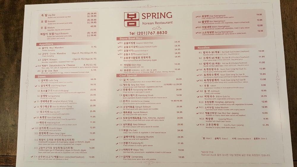 Online Menu Of Spring Restaurant Restaurant Closter New Jersey 07624 Zmenu