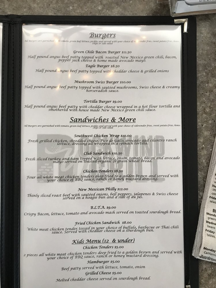 Rockwind Grill: 5001 Jack Gomez Blvd, Hobbs, NM