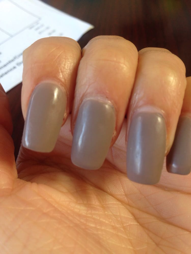 Asked for short coffin shaped nails. Got long squared oval or ...