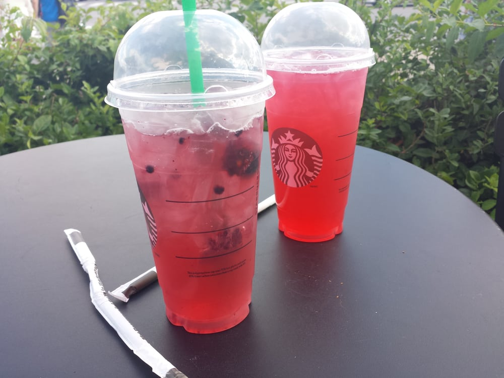 Passion Fruit Iced Tea Lemonade And Very Berry Hibiscus Refresher Yelp