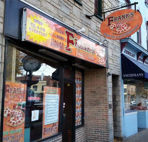 Frank's Pizza Trattoria: 58 E Main St, Bloomsburg, PA