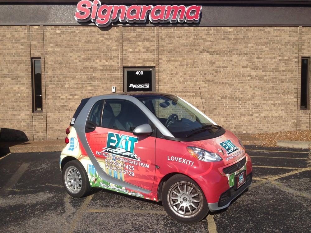 Photo Of Signarama Nashville Tn United States Smart Car Vehicle Wrap